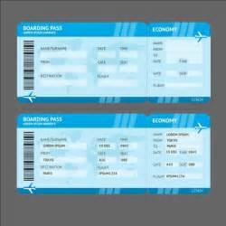 Airline Ticket Template by Airline Tickets Template Design Vector 04 Vector