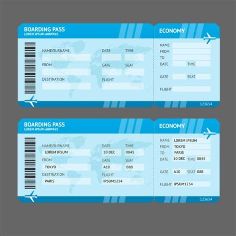 design tickets template airline tickets template design vector 04 free vectors