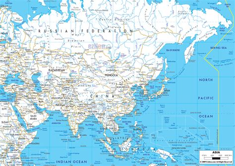 map of asai detailed clear large road map of asia ezilon maps