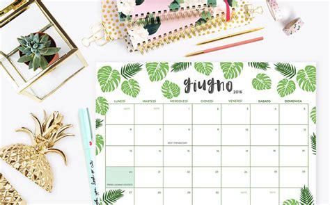 Calendario Giugno 2016 Scarica E Sta Il Calendario Planner Di
