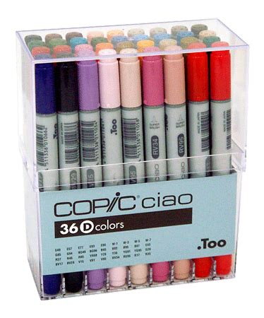copic ciao 36d by raja graphic copic ciao marker 36 color set d rex supplies