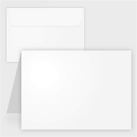 folded note card template blank white matte printable note cards w envelopes 4 25x5