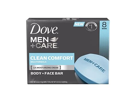 dove men care clean comfort ingredients dove men care body and face bar clean comfort 4 oz 8 bar