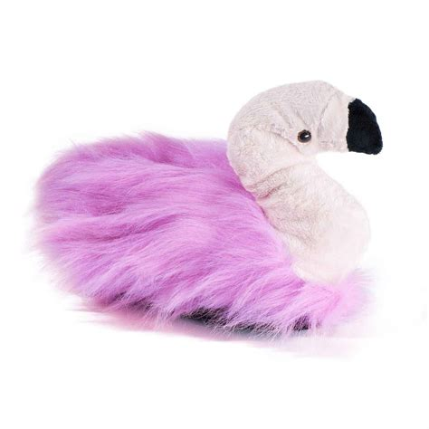 flamingo slippers flamingo plush slippers pink brooch funslippers