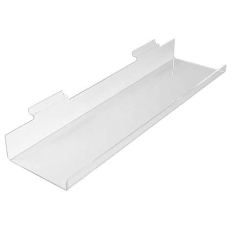 Lipped Shelf by Slatwall Shelf Acrylic Perspex 174 Acrylic Display