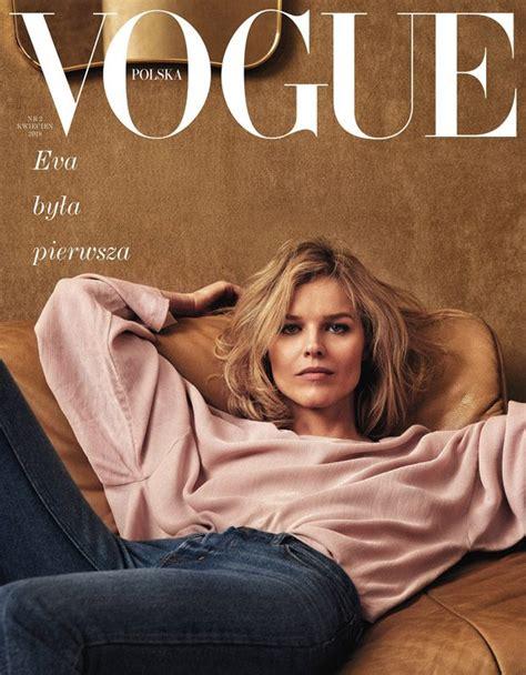 design magazine poland supermodel eva herzigova covers vogue poland april 2018 issue