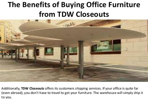 the benefits of buying office furniture from tdw closeouts