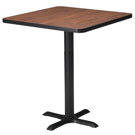 Bar Bistro Table Mayline Ca30shbt Mayline 30in Square Bar Height Bistro Table With X Base