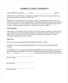 Land Agreement Template doc 7681024 land contract form land contract form 5