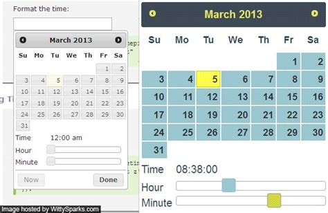 format date jquery add timepicker to jquery ui calendar or datepicker