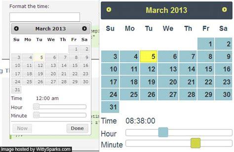 format date using jquery add timepicker to jquery ui calendar or datepicker
