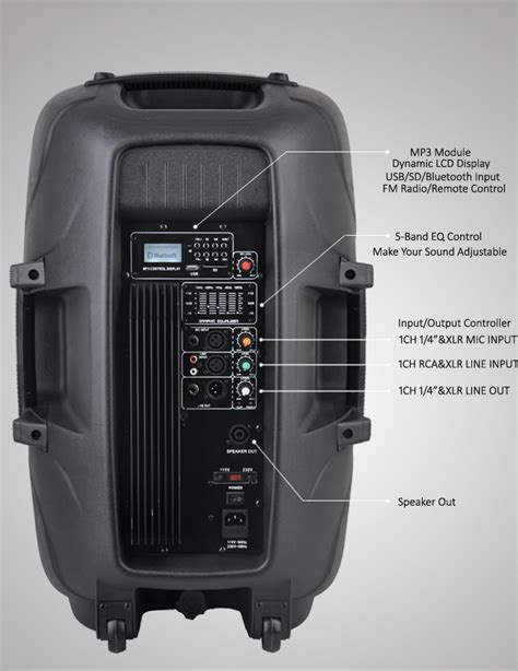 Layar Speaker Portable Led 15inch Toatech Audio Profesional Japan 15 inch outdoor audio system active bluetooth speaker