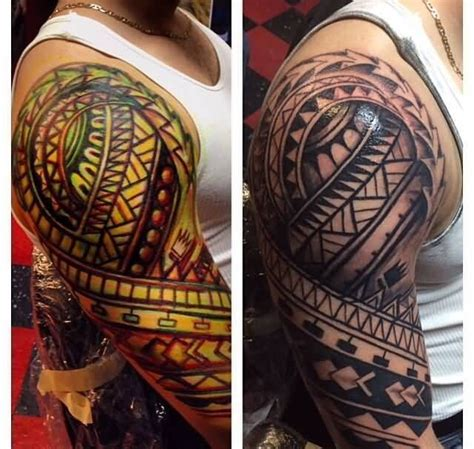 colored tribal sleeve tattoos best 25 tribal sleeve tattoos ideas on arm