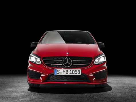 mercedes updates the b class with led headlights and amg