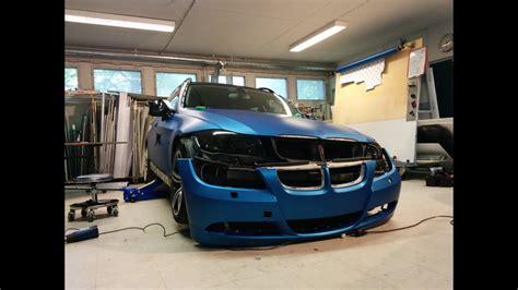 car wrapping bmw    matte blue metallic youtube