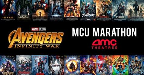 marvel film marathon epic 31 hour infinity war movie marathon is coming to amc