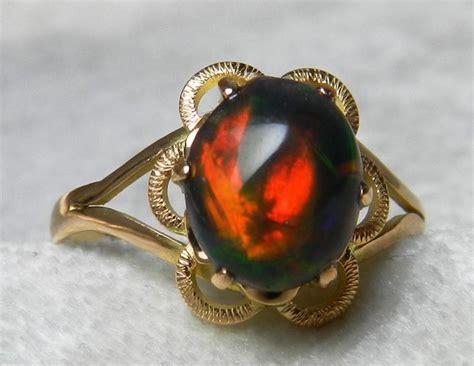 opal engagement ring black opal vintage ring 1 0 carat