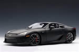 matte black lexus lfa die cast model by autoart lexus