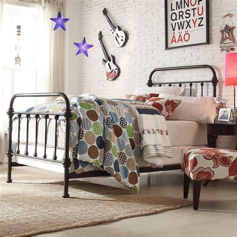 black twin bed frame homesullivan calabria bronzed black twin bed frame 40e411b201wbed the home depot