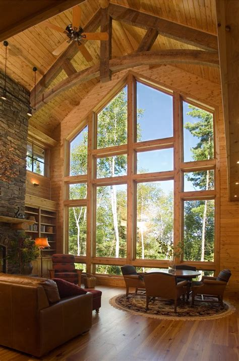 Houses With Big Windows Decor Big Wood Timber Homes There S No Place Like Home Timber Boards Home And Window