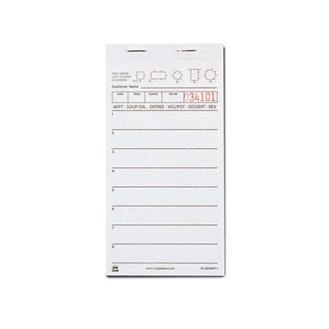 80 297 roll paper receipt templates royal white server pad paper 1 part booked with 8 lines