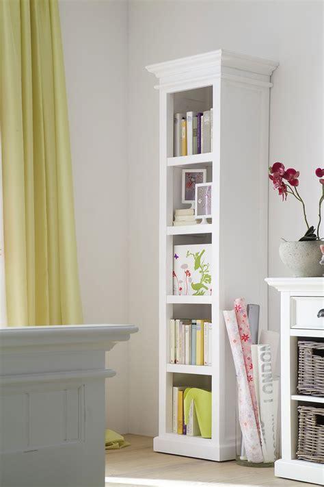 Thin White Bookcase Belgravia Painted Narrow Bookcase Oak Furniture