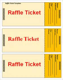Raffle Tickets Template by Sle Raffle Ticket Template 20 Pdf Psd Illustration