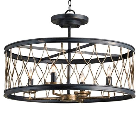 Black Lantern Ceiling Light Black Open Lantern 4 Light Ceiling Mount Kathy Kuo Home