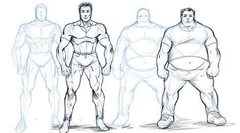 Drawing Characters by How To Draw Overweight Characters By Robertmarzullo On