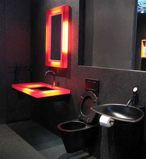 red and black bathroom ideas minimalist bathroom decor with modern closet and unusual