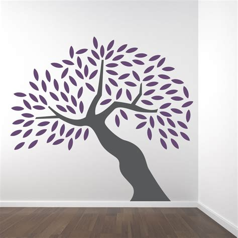 tree sticker wall decal big tree wall decal