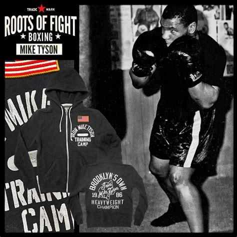 Hoodie Zipper Iron Mike Tyson Hitam Cloth roots of fight iron mike tyson c hoodie
