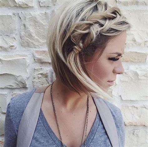 11 peinados casuales para cabello corto peinados peinados con trenzas para pelo corto
