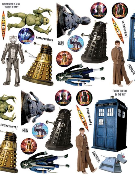 dr who wall stickers doctor who wall stickers squares 3 large pieces dr