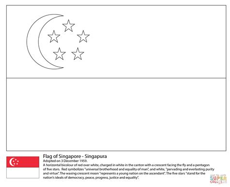 flag of singapore coloring page free printable coloring