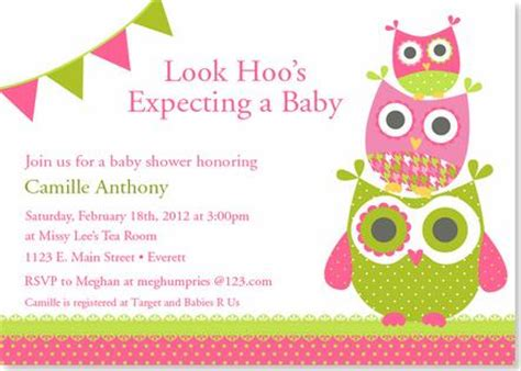 owl themed baby shower invitation template owl baby shower invites theruntime