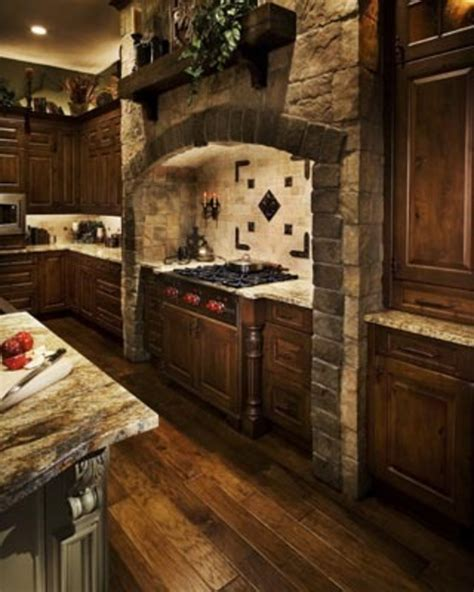 stone kitchen design mediavel castle and stone range hood old word kitchen