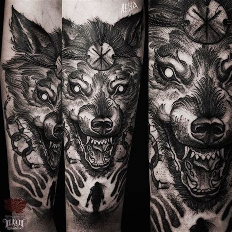 norse mythology tattoos the 25 best ideas about fenrir on