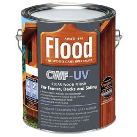 home depot uv paint flood 1 gal clear cwf uv based exterior wood finish
