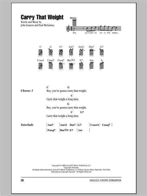 strumming pattern carry you home tablature guitare carry that weight de the beatles