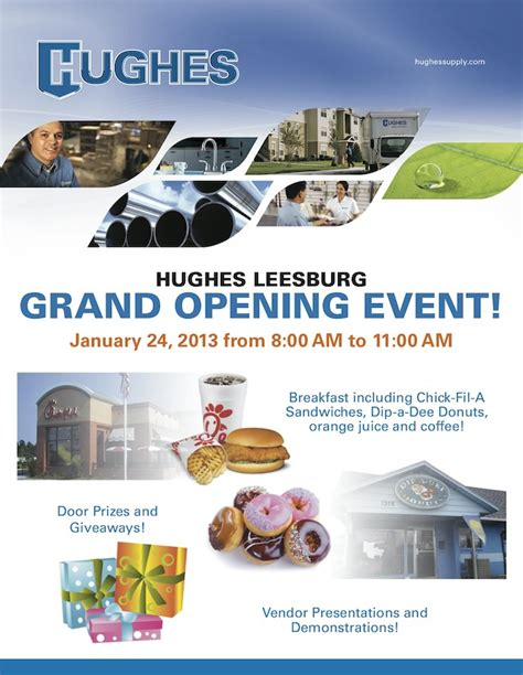 Chick Fil A Grand Opening Giveaways - january 24th hughes supply in leesburg grand opening event hughes blog