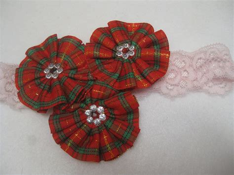 Ransel Seri Kotak Kotak elegan bandana renda tiga bunga permata chie l