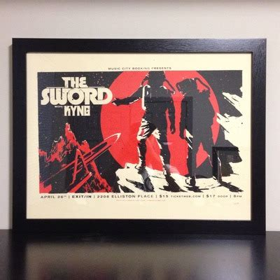 Sword Print Poster High Quality the sword kyng screen print poster 4 26 13 183 conspire