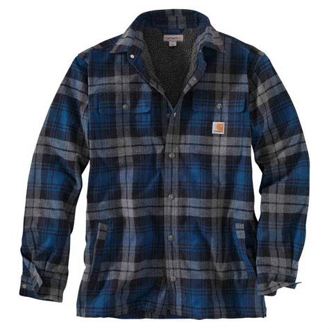 Levis Flannel Navy By Daino Store carhartt hubbard sherpa lined flannel shirt jacket