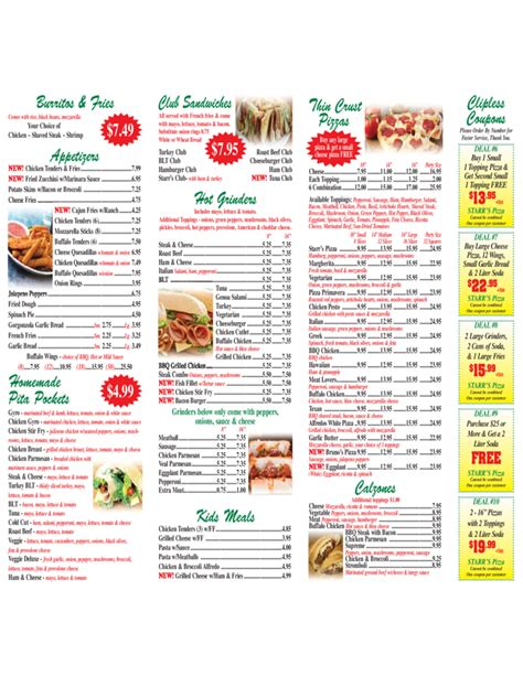 pizza menu template and designs free download