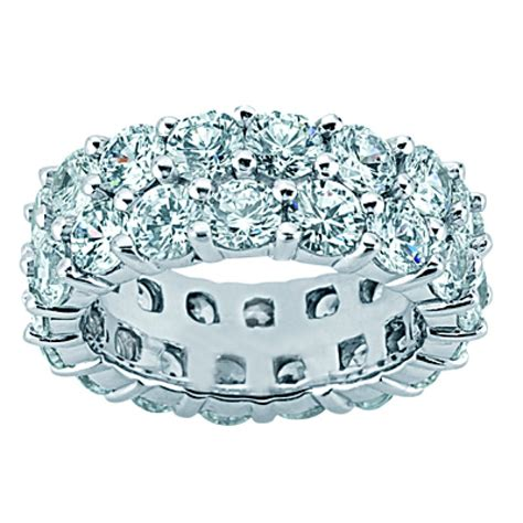 4 50 ct two row eternity wedding band ring