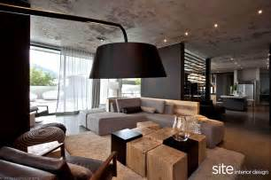 Contemporary Home Interiors by Dramatic Modern House By Site Interior Design Decoholic
