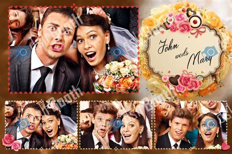Photobooth Selfie Happy Wedding Birthday Wedding Wisuda bridal bouquet four poses horizontal dslrbooth store