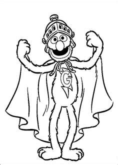 Coloring Page Of Oscar The Grouch And Quot I Love Trash Quot Sign Oscar Coloring Pages