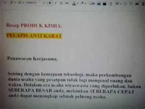 Cat Pelapis Anti Karat resep produk kimia anti karat